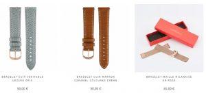 bracelets montres maille